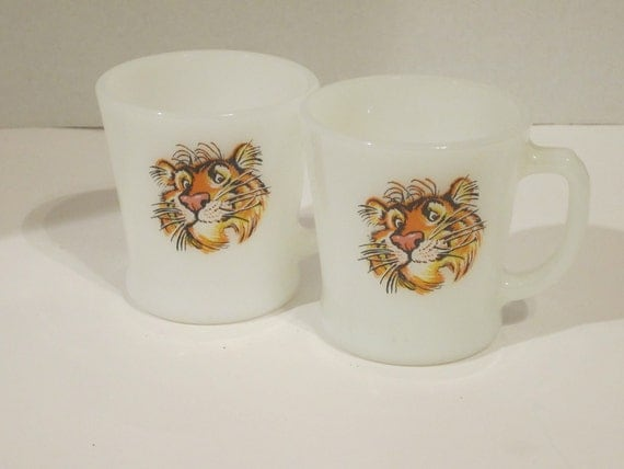FLASH SALE Vintage Esso Tiger Mugs (Set of 2)