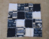 Dallas Cowboys Baby Rag Quilt