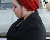 The Hermione Slouchy Hat in Autumn Red