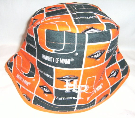 Miami Hurricanes orange-base bucket hat by Hamlet Pericles