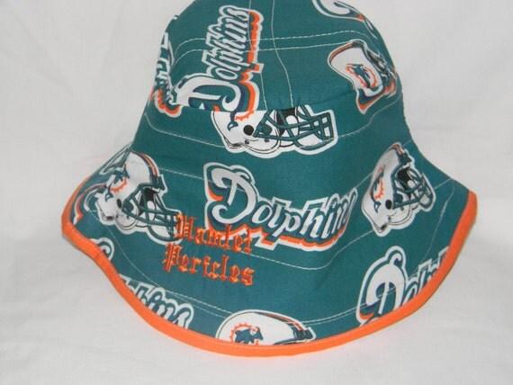 Miami Dolphins orange-brim bucket hat by Hamlet Pericles