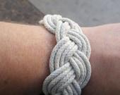 Sailor bracelet: turks head knot endless nautical bracelet with cotton rope