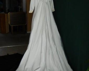 1960s Wedding Dress with Train