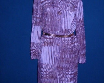 I Magnin & Co 1960's Metallic and Rhinestone Dress