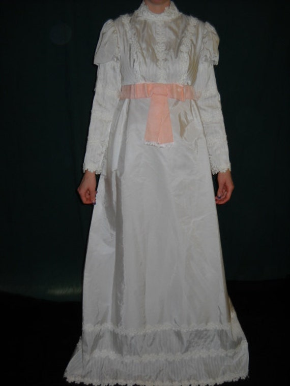 1970's wedding dress in early 20th century style