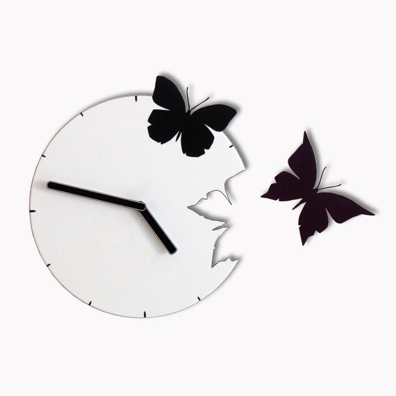 Butterflies in the Skies Wall Clock Freedom