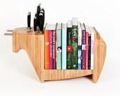KITCHEN BULL - combination knife block / bookshelf / cheeseboard (after Henriksen)