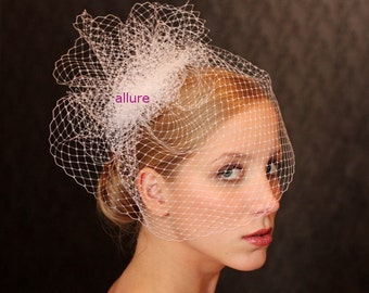 BIRD CAGE VEIL unique and so glamorous. Head piece, wedding  veil. For modern bride