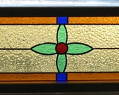 STAINED GLASS WINDOW panel victorian leaded