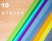 10 wool felt pieces 30x40cm - Choose your colors -Irisfelt-