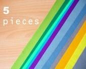 5 wool felt pieces 30x40cm - Choose your colors -Irisfelt-