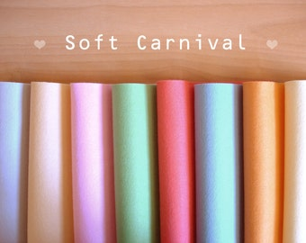 Soft Carnival -Irisfelt Collection- 8 pieces 15 x20cm