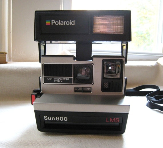 polaroid camera sun 600 lms by offbeetvintage on etsy. Black Bedroom Furniture Sets. Home Design Ideas