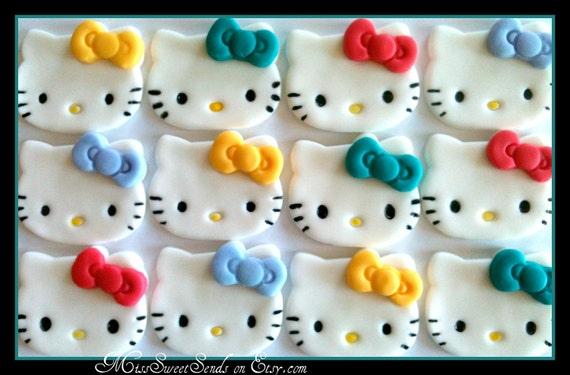 Fondant Cupcake Toppers- Kitty