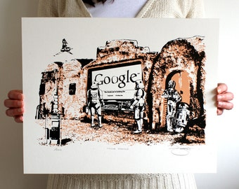 Star Wars 'Those Droids' Hand Pulled Limited Edition Screen Print