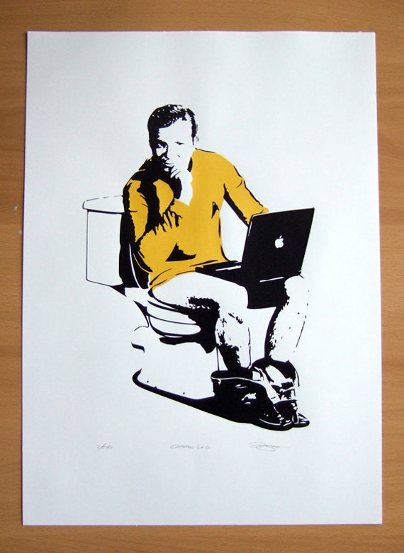 Star Trek Captains Log Hand Pulled Limited Edition Screen Print