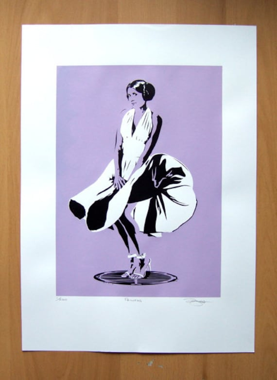 Star Wars Princess Leia / Marilyn Monroe Hand Pulled Limited Edition Screen Print