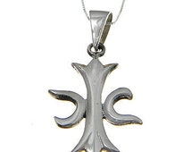 Maltese Holy Cross Pendant,  925  Sterling Silver Pendant, Pendant .