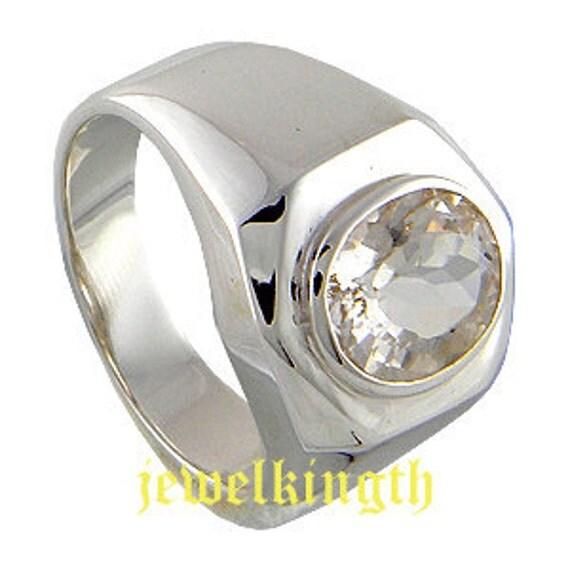 Morganite Semi Precious Stone Sterling Silver Men Ring,925 sterling silver ring, Stone Men Ring, One Stone Ring.