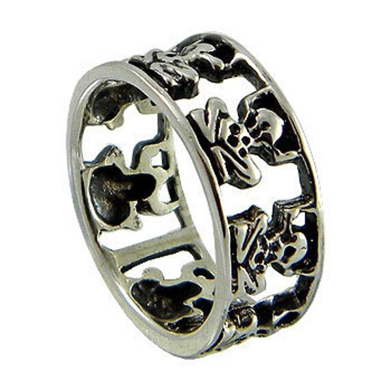 Frog Ring, Frog Band Ring, Sterling Silver Band Ring, Rings (OP 445 )