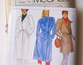 McCalls 7312 BASILE Designer Coat and Pants UNCUT Vintage 1980s Pattern Misses Size 12