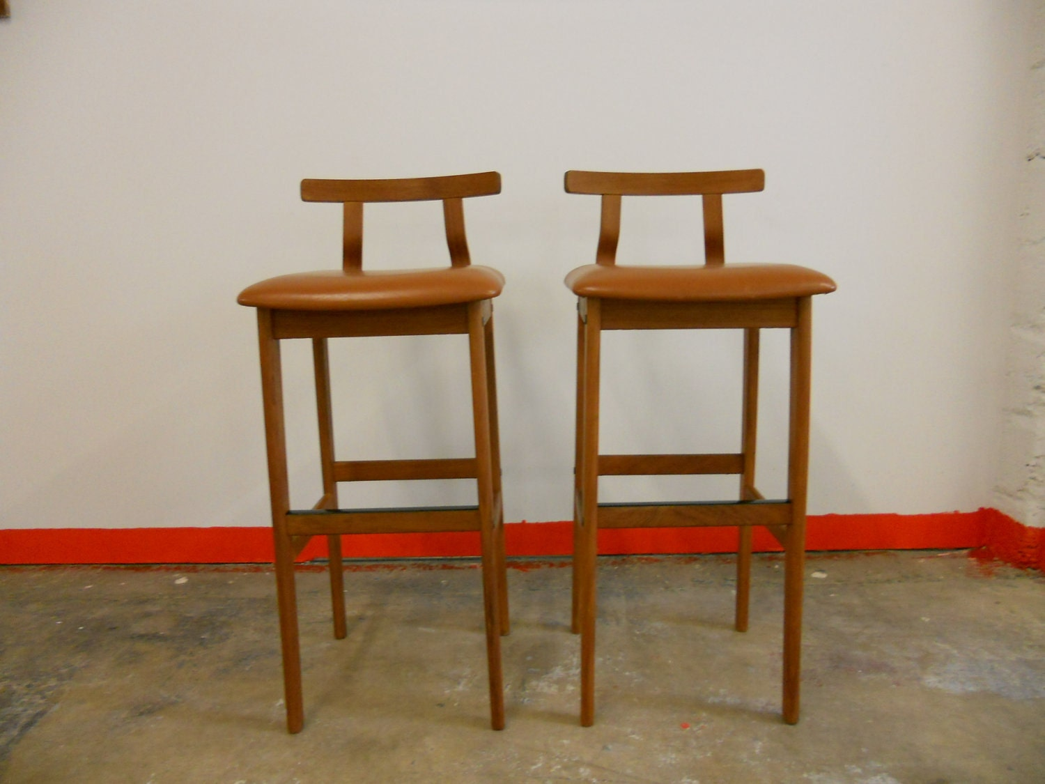 Lovely Danish Teak Bar Stool