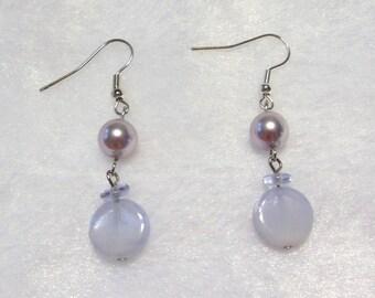 Pretty Purple  Earrings  E-075