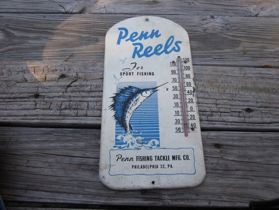 Penn Reels Advertising Thermometer By Boivin628 On Etsy