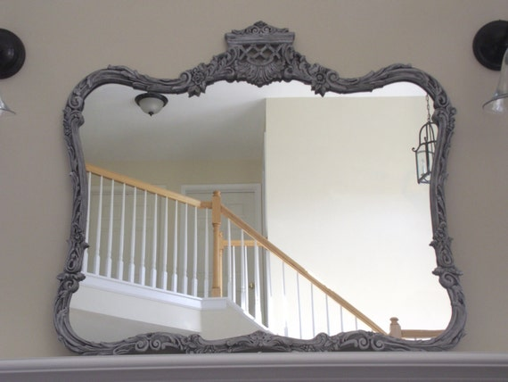 RESERVED for Sam Grey Vintage French Provincial Mirror