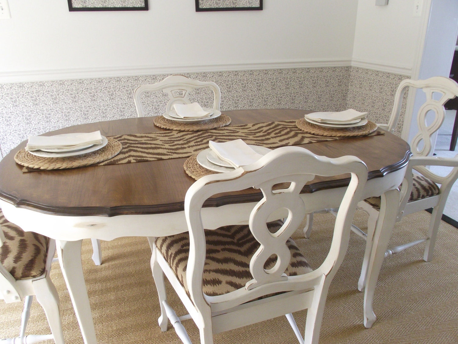 Vintage French Provincial Dining Room Table And By MeAndPhoebe