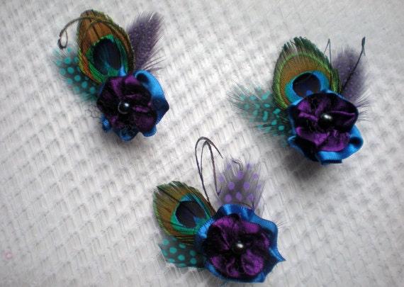 Custom listing for Savanna, 8 bridesmaids hair clips, 10 boutonnieres, 4 corsages