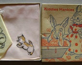 Reserved for Barb Vintage Kitten Cat Kiddies Hankies in Box Unused
