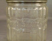 Vintage 1940s Kranks Shave Kreem Jar with original Metal Screw on Lid