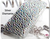 Apple iPod Touch iTouch 4 G 4G Gen 4th Generation BLING Back CASE: Rhinestone Crystal Diamond Gems Hard Skin Case Cover (Silver Diamante)
