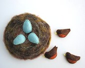 Handmade Montessori Magnetic Felt Counting & Sorting Work -- Robin's Nest. Made to order.
