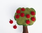 Handmade Montessori Toy - 10 Little apples - Handmade Montessori Magnetic Counting and Sorting Work. Made to order.