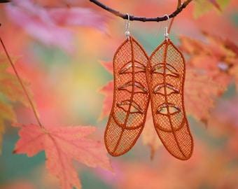 Leaves Not Fallen (earrings // burnt orange)