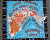 Koi Mosaic Meditation Stone