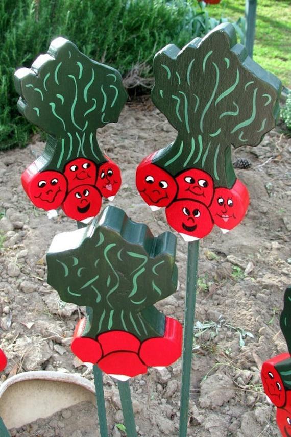 Radish - Wooden Garden Personality Plant Marker -Gift for the gardener