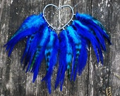 Feather ear cuff - Blue sky (Pair)