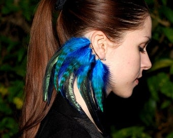 Feather ear cuff - Eclipse