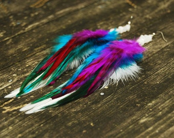 Feather Earrings - Liliana