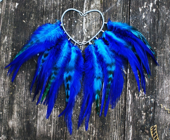 Feather ear cuff - Blue sky (Pair)