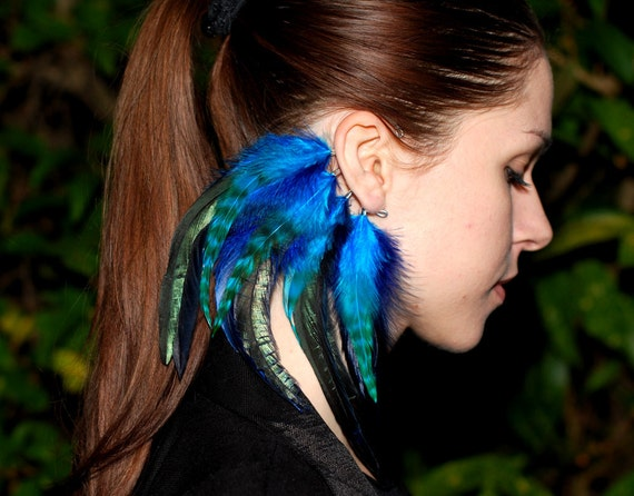 Feather ear cuff - Eclipse