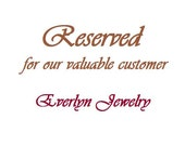 Reserved for Dianne C.
