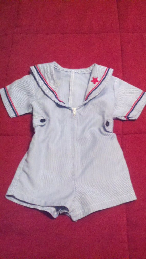 vintage baby boy clothes sailor suit size 12 18 by