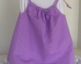 Purple sundress/top with flower trim and diaper cover