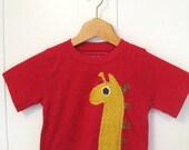 SALE- George Giraffe Toddler's Applique Tshirt