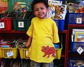 Sara Triceratops Applique Children's Tshirt