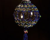"""Cloisonné Pattern Christmas ornament wrap 2.5"""" bulb Pattern"""